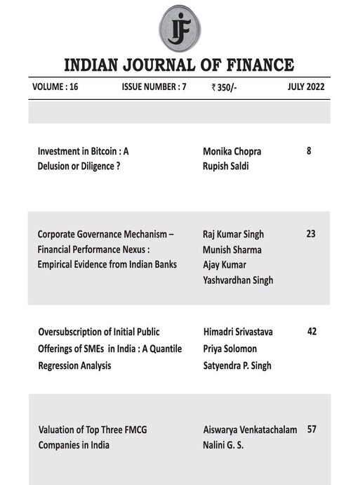 Indian Journal of Finance October
